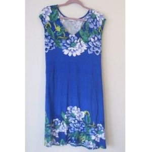 Blue Floral Dress by Isaac Mizrahi Live 1X